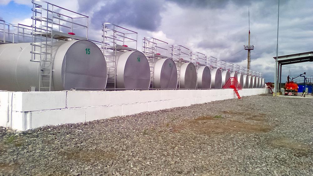 Строительство нефтебазы под ключ для ООО Нафта в г. Сухой Лог.